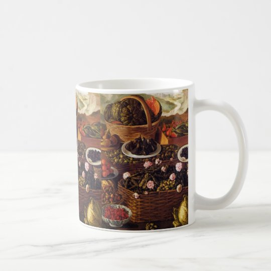 The Fruit Seller in detail by Vincenzo Campi Coffee Mug