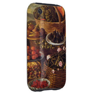 The Fruit Seller in detail by Vincenzo Campi iPhone 3 Tough Cover