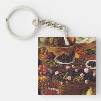 The Fruit Seller in detail by Vincenzo Campi Keychain