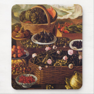 The Fruit Seller in detail by Vincenzo Campi Mouse Pad