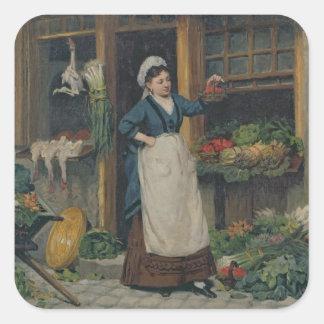 The Fruit Seller Square Sticker