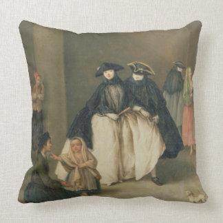 The Fruit Seller Throw Pillow