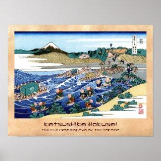 The Fuji from Kanaya on the Tokaido Hokusai Poster