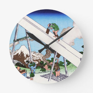 The Fuji from the mountains of Totomi Hokusai Clock