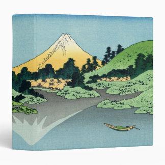 """The Fuji reflects in Lake Kawaguchi 1.5"""" Binder"""
