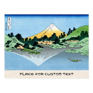 The Fuji reflects in Lake Kawaguchi Hokusai Postcard
