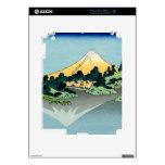 The Fuji reflects in Lake Kawaguchi iPad Skin