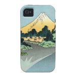 The Fuji reflects in Lake Kawaguchi  iPhone 4 Case