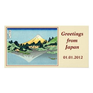 The Fuji reflects in Lake Kawaguchi Photo Card