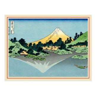 The Fuji reflects in Lake Kawaguchi Postcar Postcard