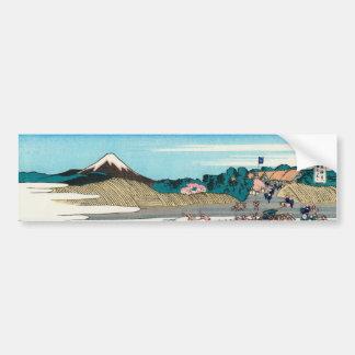 The Fuji seen from Kanaya on the Tokaido Bumper Sticker