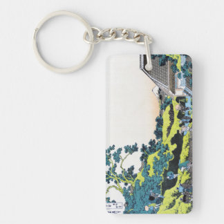 The Fuji seen from the Mishima pass Hokusai Keychain