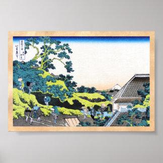 The Fuji seen from the Mishima pass Hokusai Poster