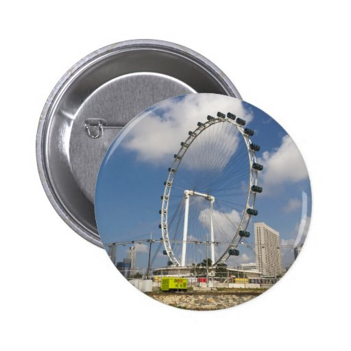 The full circle of Singapore Flyer in Singapore Pinback Buttons
