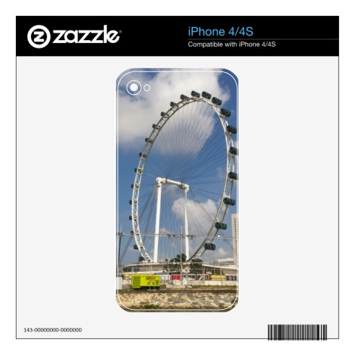 The full circle of the Singapore Flyer Decal For The iPhone 4