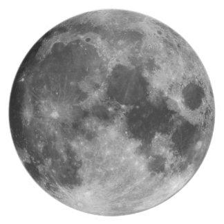 The Full Moon Melamine Plate