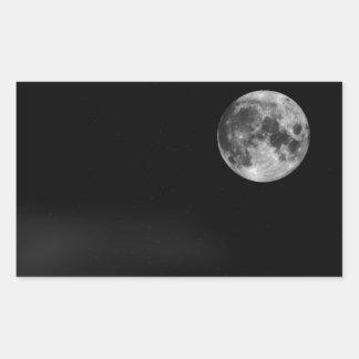 The Full Moon Rectangular Sticker