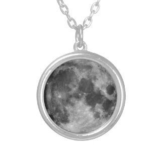The Full Moon Silver Plated Necklace
