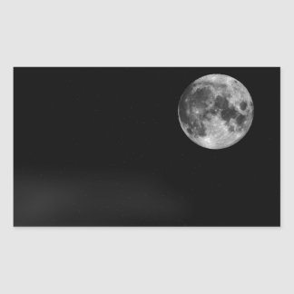 The Full Moon Rectangle Sticker