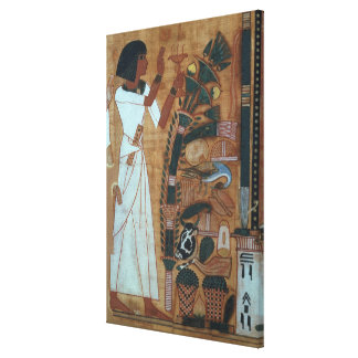 The Fumigation of Osiris, page from the Book of th Gallery Wrapped Canvas