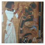 """The Fumigation of Osiris, page from the Book of th Ceramic Tile<br><div class=""""desc"""">Image:95058  The Fumigation of Osiris,  page from the Book of the Dead of Neb-Qued,  Egyptian,  New Kingdom (papyrus). Egyptian 19th Dynasty (c.1297-1185 BC). Louvre,  Paris,  France,  Peter Willi.  Art,  Fine Art.</div>"""