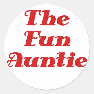 The Fun Auntie Classic Round Sticker