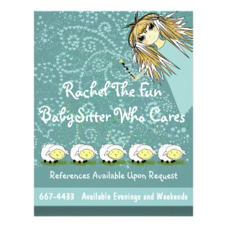 The Fun BabySitter Who Cares Flyer