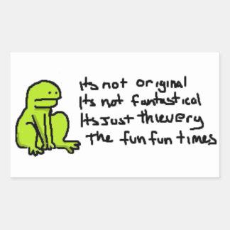 The Fun Fun Frog - Sticker