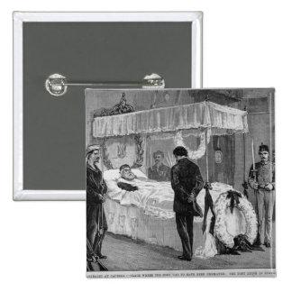 The Funeral of Garibaldi at Caprera 2 Inch Square Button