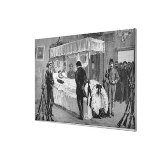 The Funeral of Garibaldi at Caprera Canvas Print
