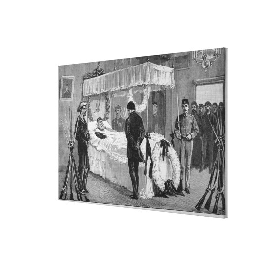 The Funeral of Garibaldi at Caprera Canvas Print