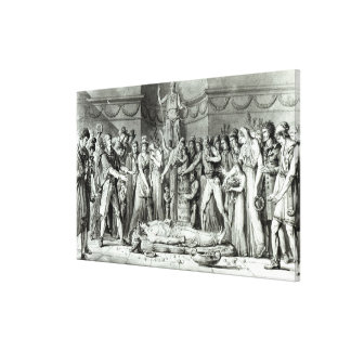 The Funeral of Jean Paul Marat Canvas Print