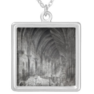 The Funeral of Jean Paul Marat Silver Plated Necklace
