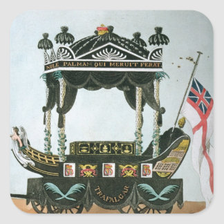 The Funeral of Lord Nelson  on 9th January 1806 Square Sticker