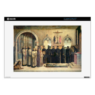 "The Funeral of St. Jerome, c.1470-1472 (oil on can 15"" Laptop Decals"