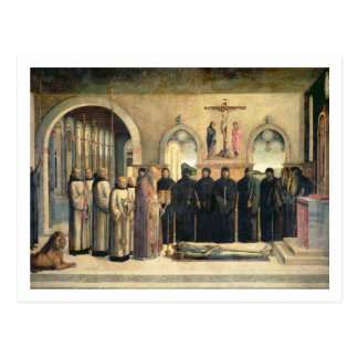 The Funeral of St. Jerome, c.1470-1472 (oil on can Postcard