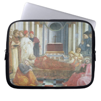 The Funeral of St. Stephen, detail from the cycle Laptop Computer Sleeves
