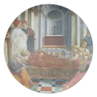 The Funeral of St. Stephen, detail from the cycle Plate