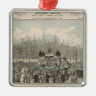 The Funeral of the Emperor of Brazil Metal Ornament
