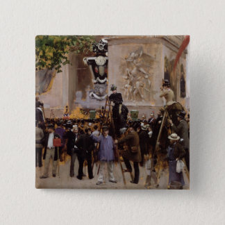 The Funeral of Victor Hugo Pinback Button