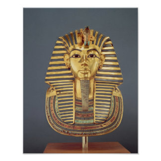 The funerary mask of Tutankhamun Poster