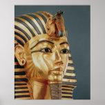 The funerary mask of Tutankhamun Print