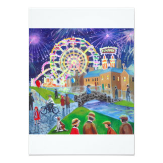 the FunFair oil painting Gordon Bruce art 5x7 Paper Invitation Card
