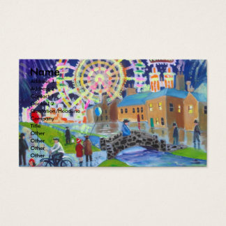 the FunFair oil painting Gordon Bruce art Business Card