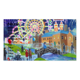 the FunFair oil painting Gordon Bruce art Business Cards