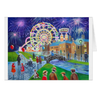 the FunFair oil painting Gordon Bruce art Card