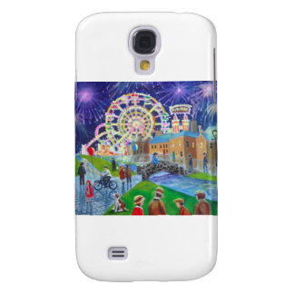 the FunFair oil painting Gordon Bruce art Samsung Galaxy S4 Covers