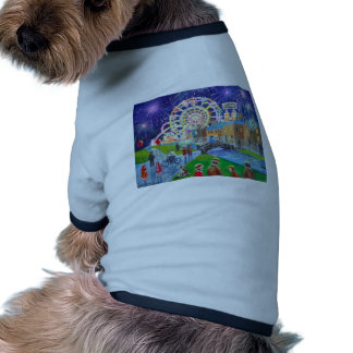 the FunFair oil painting Gordon Bruce art Pet Tee Shirt