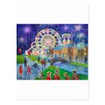 the FunFair oil painting Gordon Bruce art Post Cards