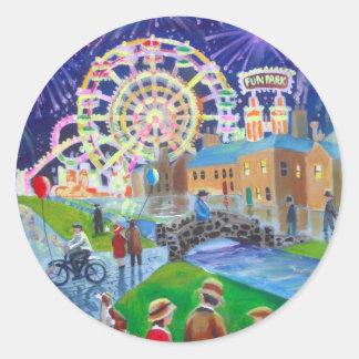 the FunFair oil painting Gordon Bruce art Sticker